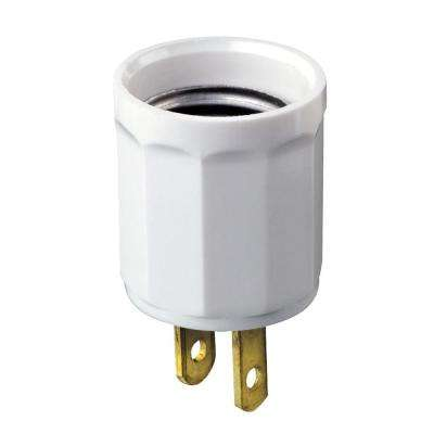 Outlet-to-Socket Light Plug, White