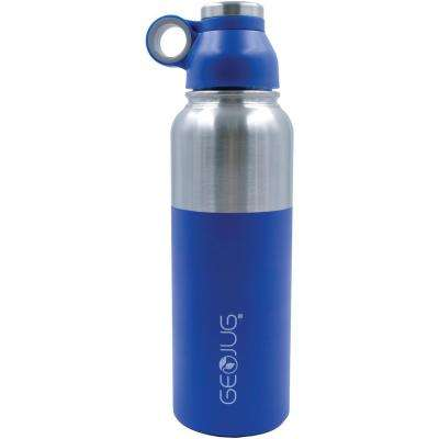Geojug 40 oz. Blue Stainless-Steel Vacuum-Insulated Water Bottle