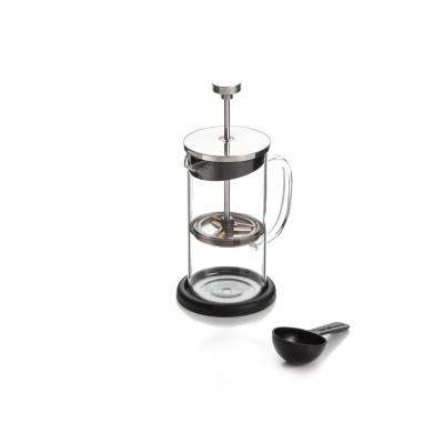 3-Cup Coffee Plunger with Coaster and Measuring Spoon