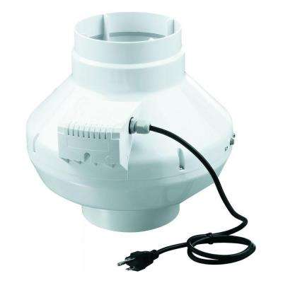 VENTS 583 CFM Power Whole House 8 in. In-Line Centrifugal Plastic Duct Fan