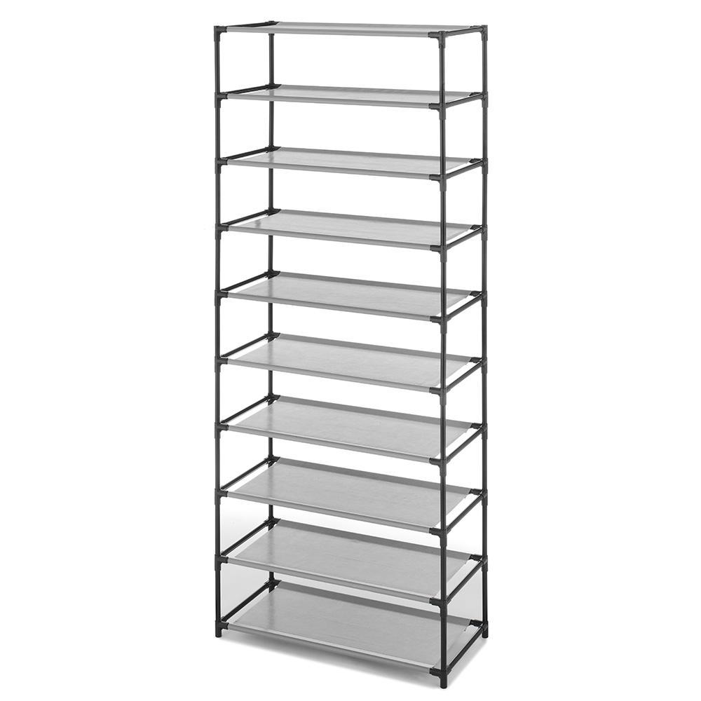 3e927c38dafa Whitmor 9.50 in. x 23.50 in. Metal 10-Tier Shelves