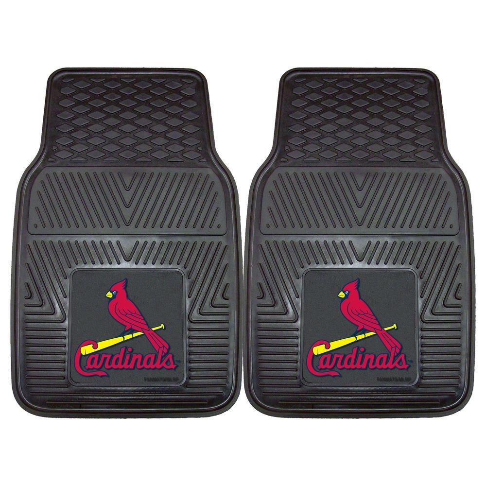 FANMATS St. Louis Cardinals 18 in. x 27 in. 2-Piece Heavy Duty Vinyl Car Mat