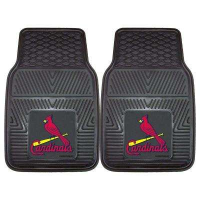 St. Louis Cardinals 18 in. x 27 in. 2-Piece Heavy Duty Vinyl Car Mat
