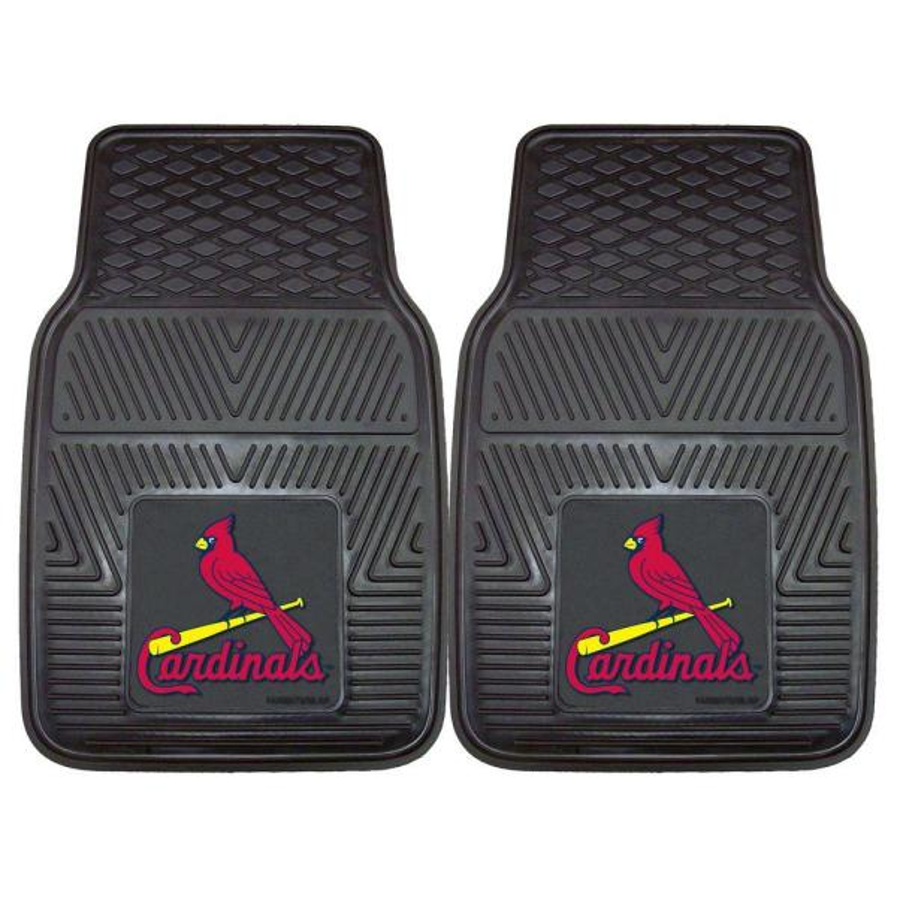 MLB Fan Mats 2pc Vinyl Car Mat Set - St. Louis Cardinals
