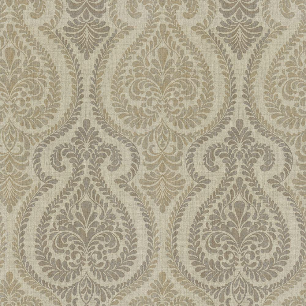 The Wallpaper Company 8 in. x 10 in. Ambiance Ogee Wallpaper Sample-DISCONTINUED