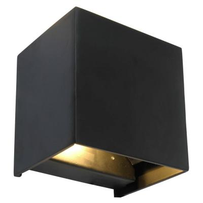 1-Light Black LED Light Wall Sconce