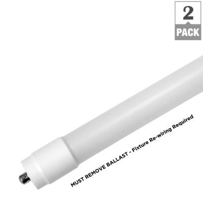 8 ft. 42-Watt T8 Non-Dimmable LED Linear Light Bulb Type B Bypass Double Ended Single Pin Daylight 5000K (2-Pack)