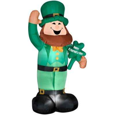 6 ft. Airblown St. Patrick's Day Leprechaun Spring Inflatable