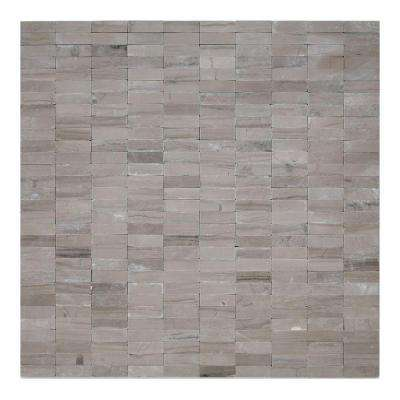 Post Modern Haisa Dark 12 in. x 12 in. x 6.35 mm Marble Mesh-Mounted Mosaic Wall Tile (10 sq. ft. / case)