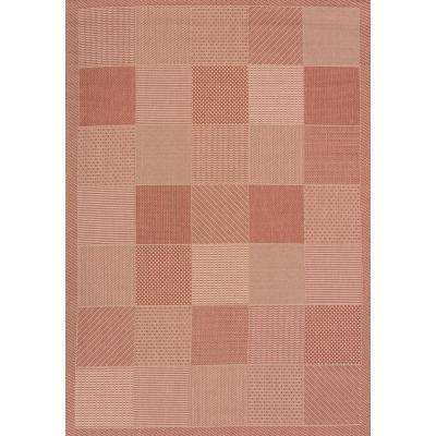 Patio Block Terracotta 3 ft. x 4 ft. Indoor/Outdoor Area Rug