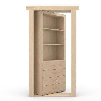 30 in. x 80 in. Flush Mount Assembled Dresser Door Maple Unfinished Right-Hand Outswing