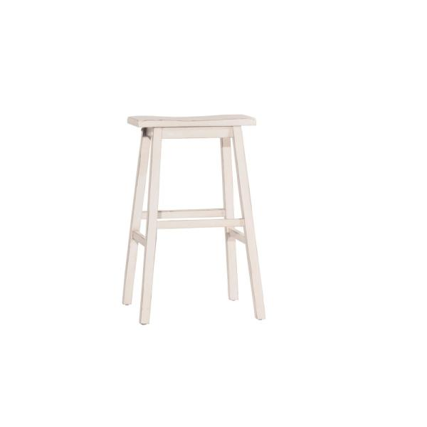 Moreno Sea White Non Swivel Backless Counter Stool