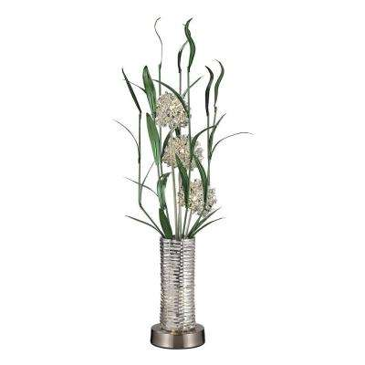 Windbear 39 in. Silver Contemporary Floral Display Floor Lamp