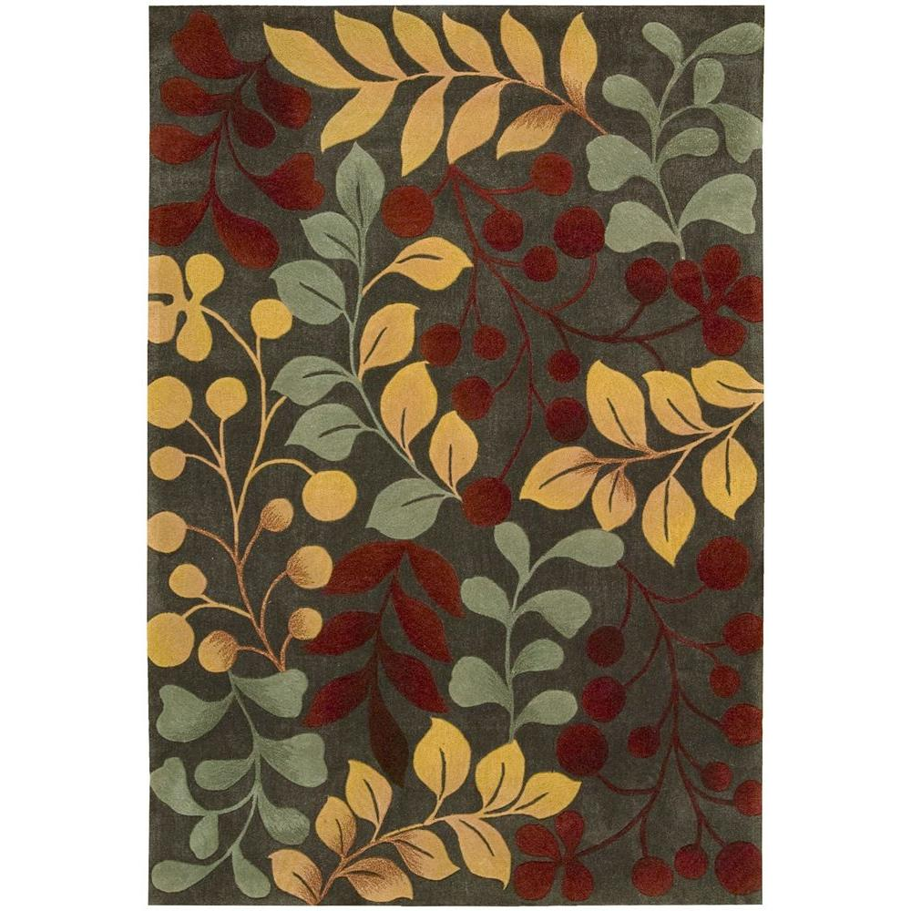 Nourison Overstock Contour Forest 5 ft. x 7 ft. 6 in. Area Rug