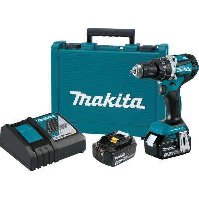 18-Volt 5.0 Ah LXT Lithium-Ion Compact Brushless Cordless 1/2 in. Hammer Driver-Drill Kit