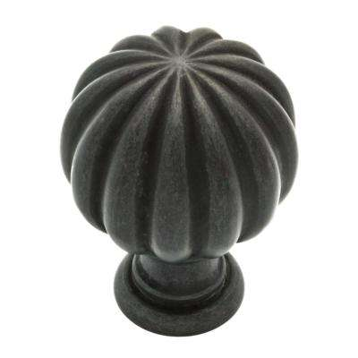 Fluted Classic 1-3/16 in. (30mm) Soft Iron Round Cabinet Knob
