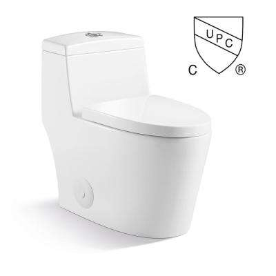 Mona Max 1-Piece 1.2/1.6 GPF Dual Flush Elongated Toilet in Pure White Seat Included