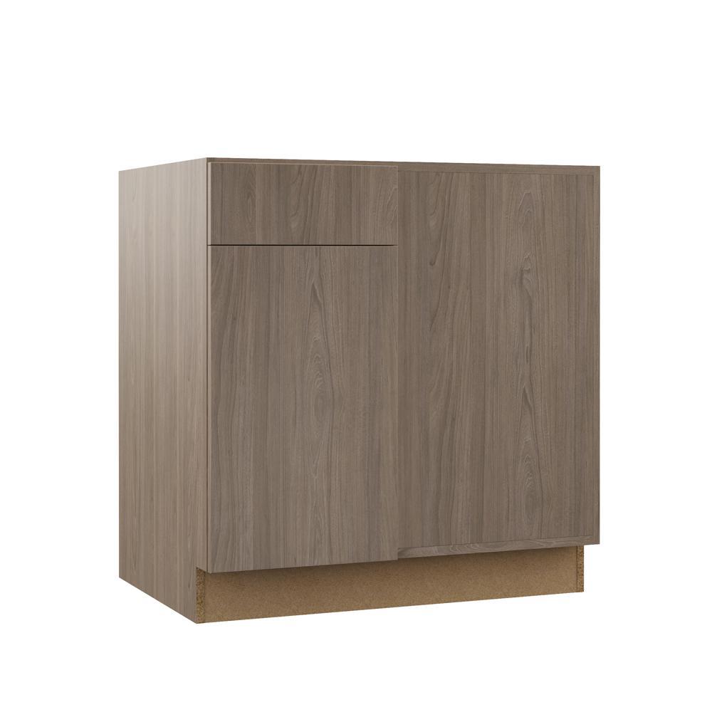 Tremendous Hampton Bay Designer Series Edgeley Assembled 42X34 5X23 In Blind Corner Base Kitchen Cabinet In Driftwood Interior Design Ideas Apansoteloinfo