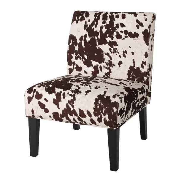 Noble House Galilea Milk Cow Pattern Fabric Accent Chair 8083