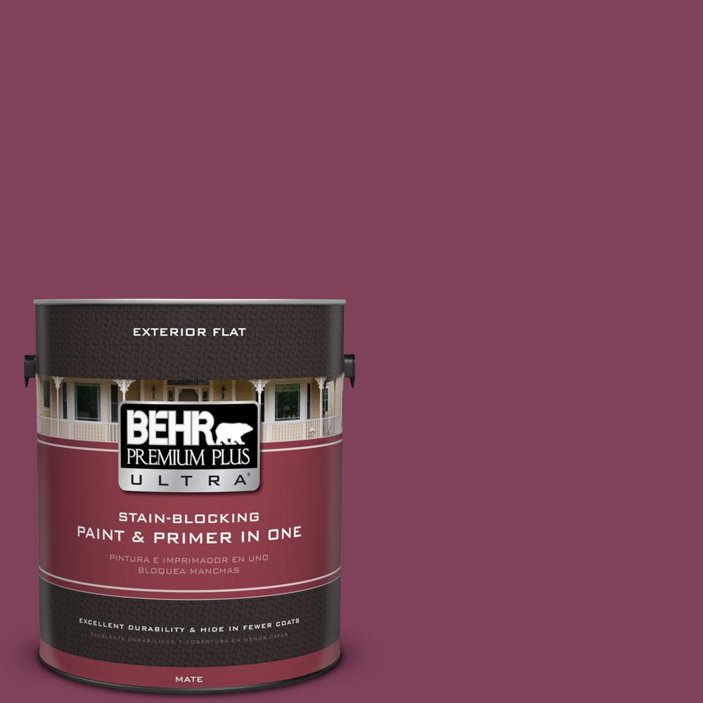 BEHR Premium Plus Ultra Home Decorators Collection 1-gal. #HDC-WR14-12 Cheerful Wine Flat Exterior Paint