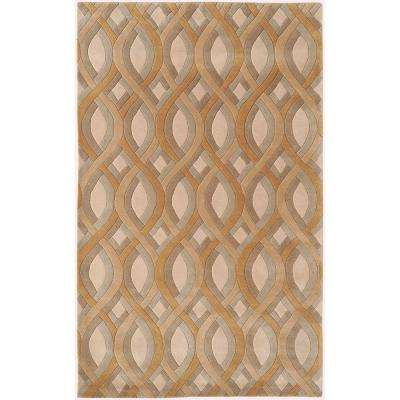 Candice Olson Beige 3 ft. x 5 ft. Area Rug