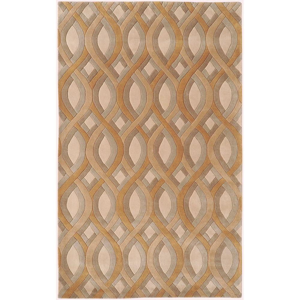 Surya Candice Olson Beige 5 ft. x 8 ft. Area Rug