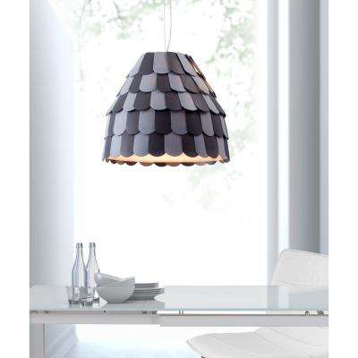 Mesocyclone 1-Light Gray Ceiling Lamp