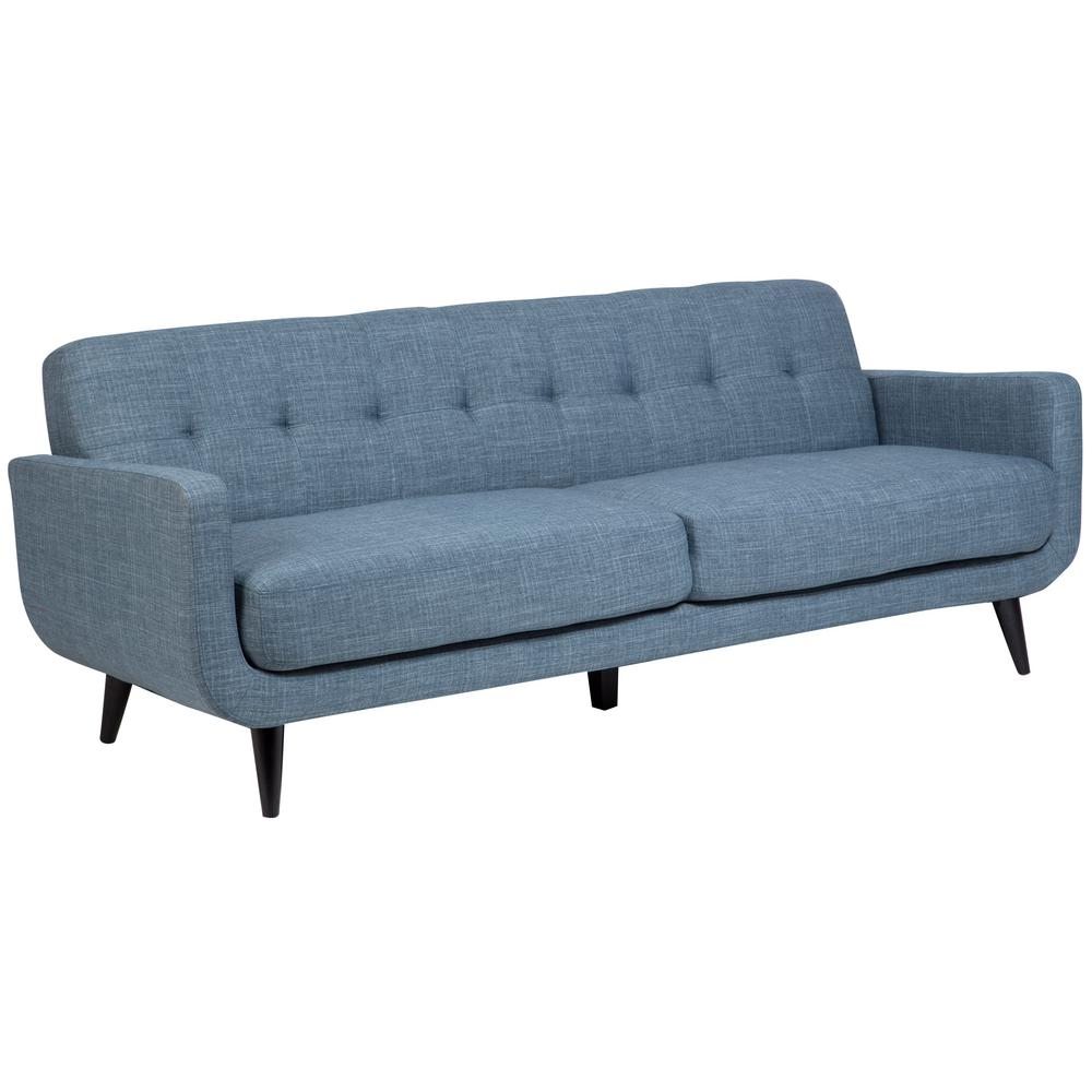 Merveilleux Casper Mid Century Modern Button Tufted Sofa In Light Blue