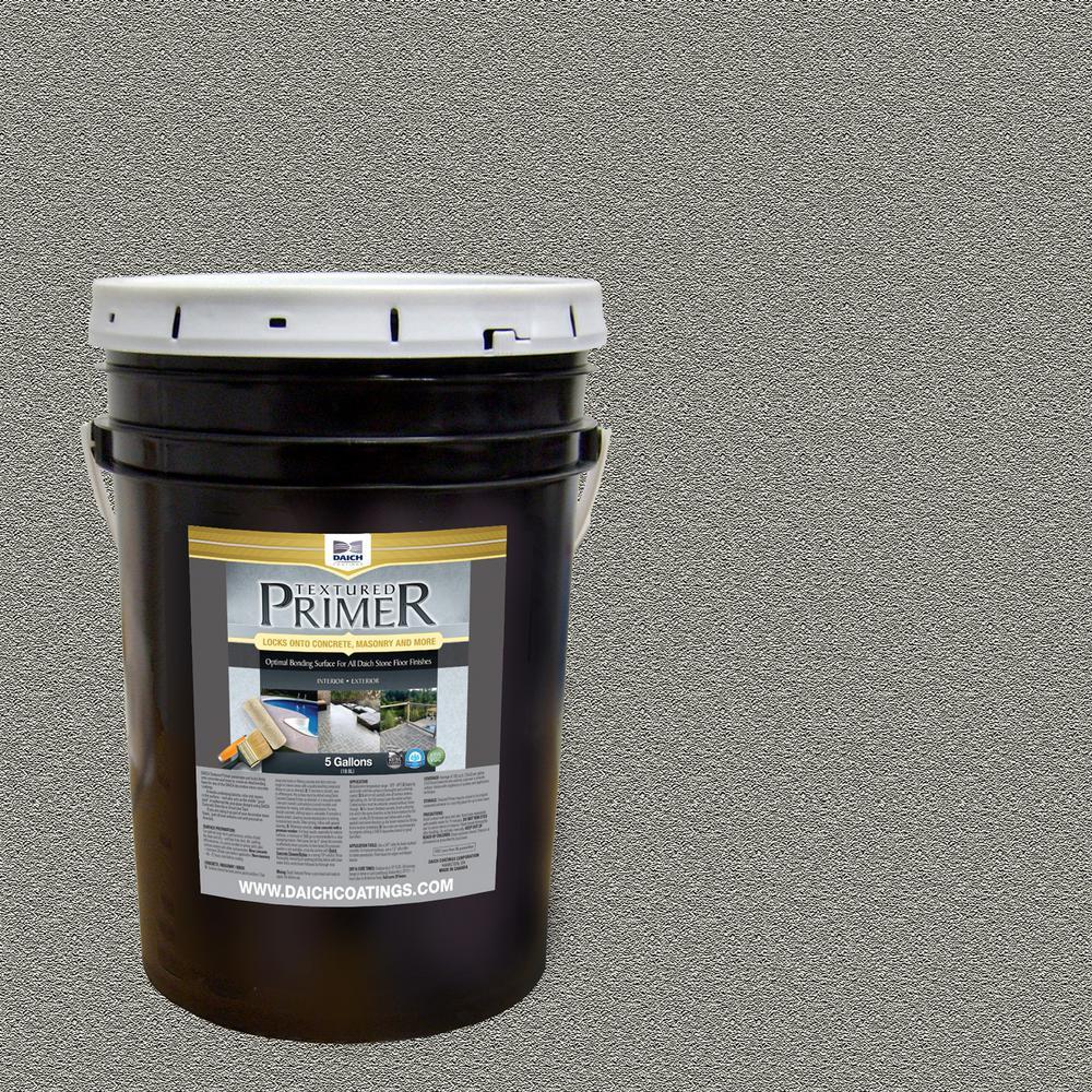 DAICH Textured 5 gal. Raw Gray Interior Exterior Bonding Primer Penetrating Anti-Slip