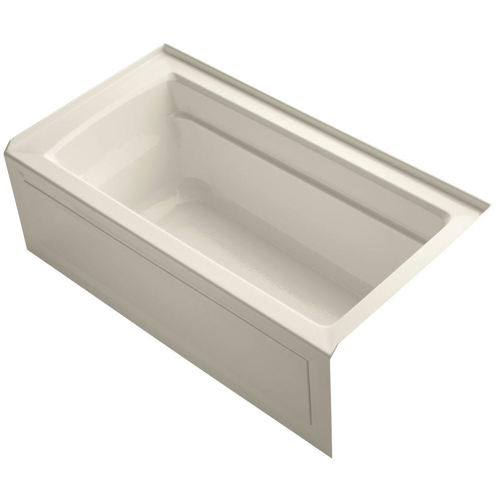 Archer 5 ft. Acrylic Right Hand Drain Rectangular Farmhouse Rectangular
