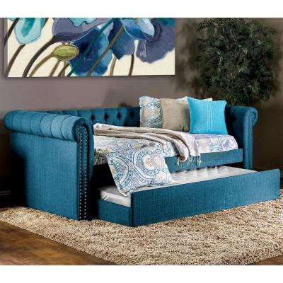 Leanna Dark Teal Trundle Daybed