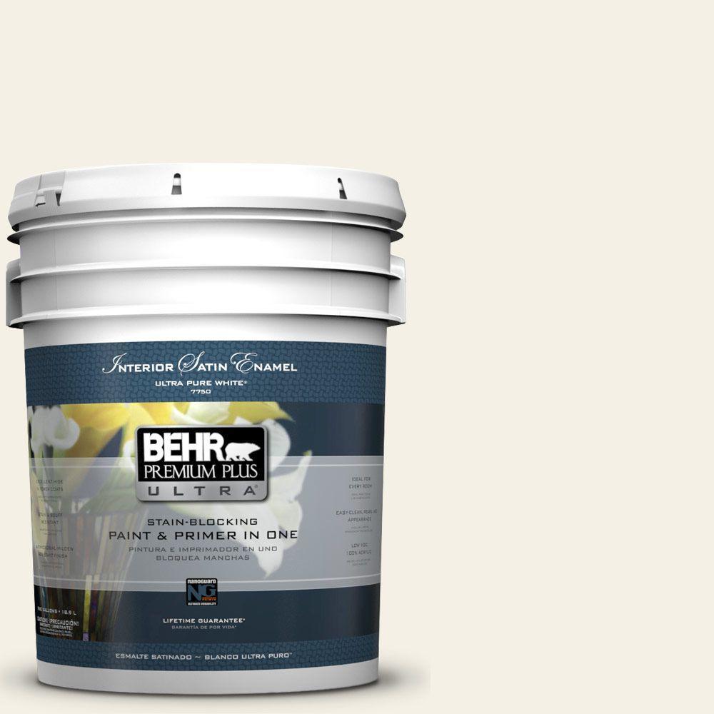 BEHR Premium Plus Ultra 5-gal. #BWC-07 Cotton Blossom Satin Enamel Interior Paint