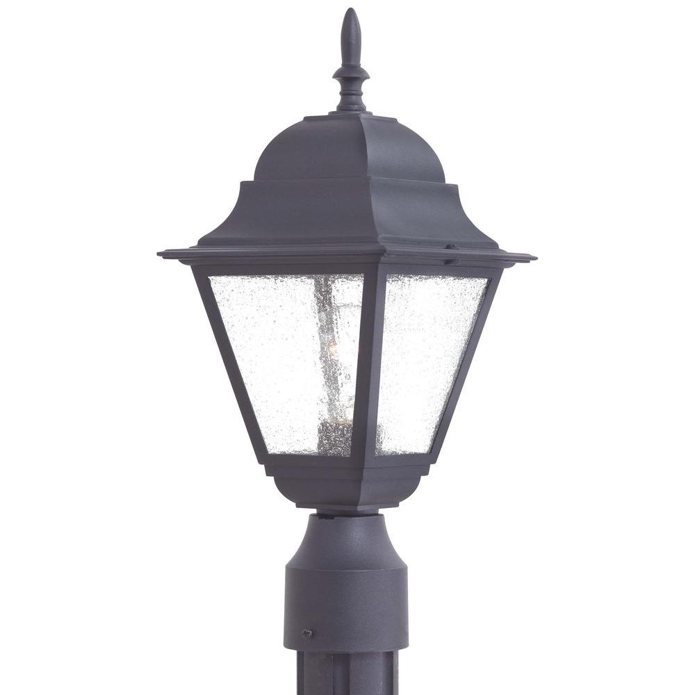 The Great Outdoors By Minka Lavery Bay Hill 1 Light Black Outdoor Post  Lantern