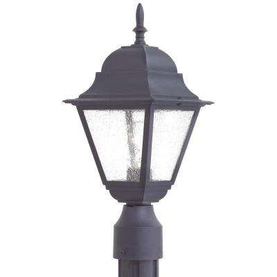 Bay Hill 1-Light Black Outdoor Post Lantern