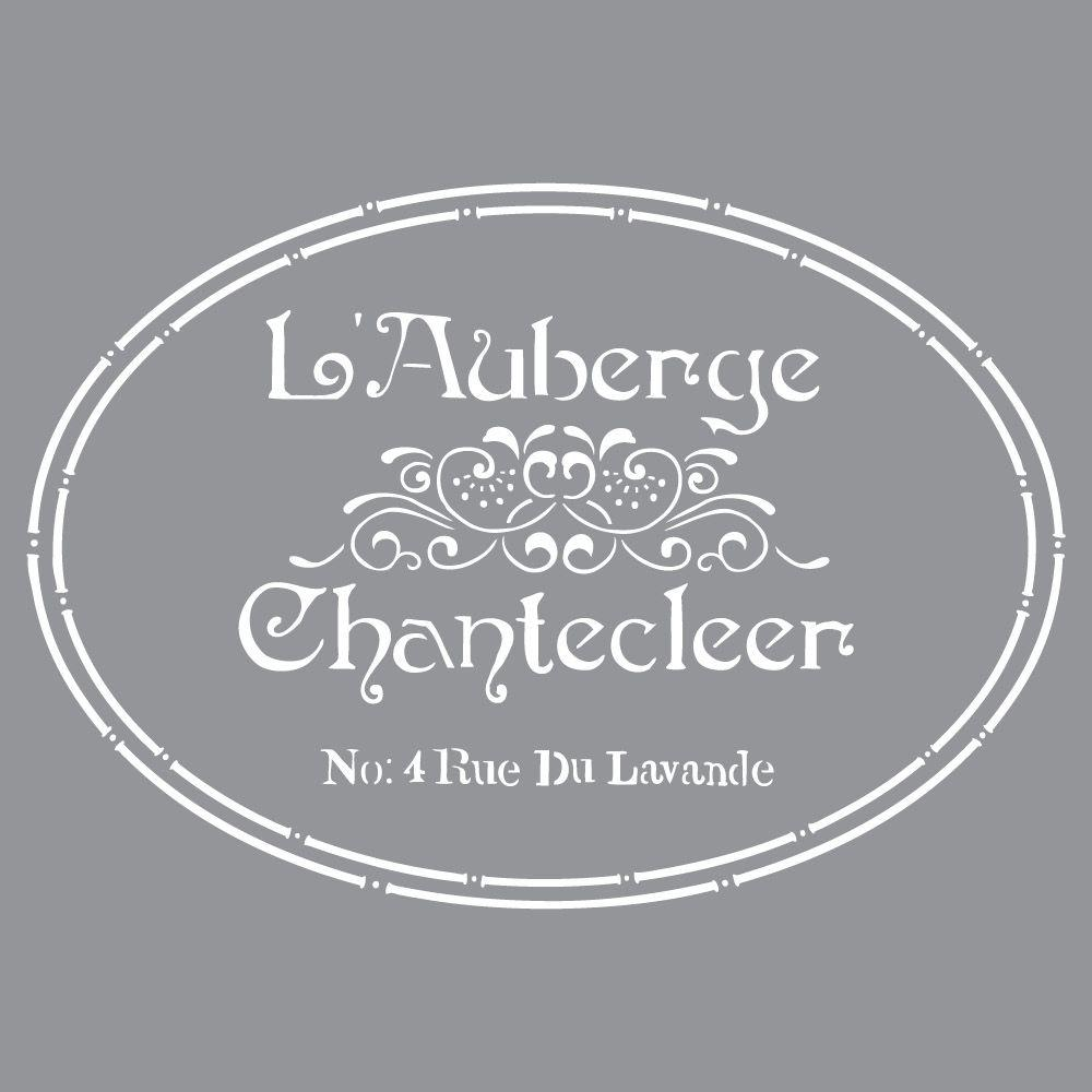 Wall stencils wall decor the home depot americana decor the french inn stencil amipublicfo Choice Image