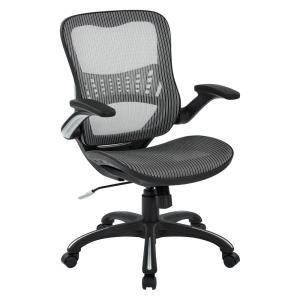 Gray Mesh Seat and Back Managers Chair