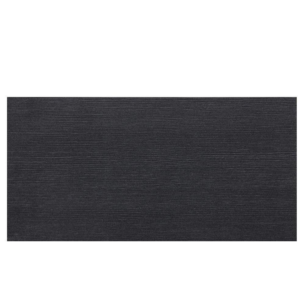Daltile Identity Twilight Black Grooved 12 x 24 in. Polished Porcelain Floor and Wall Tile (11.62 sq. ft. / case)-DISCONTINUED