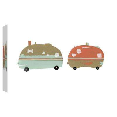 10 in. x 12 in. ''Happy Camping'' Printed Canvas Wall Art