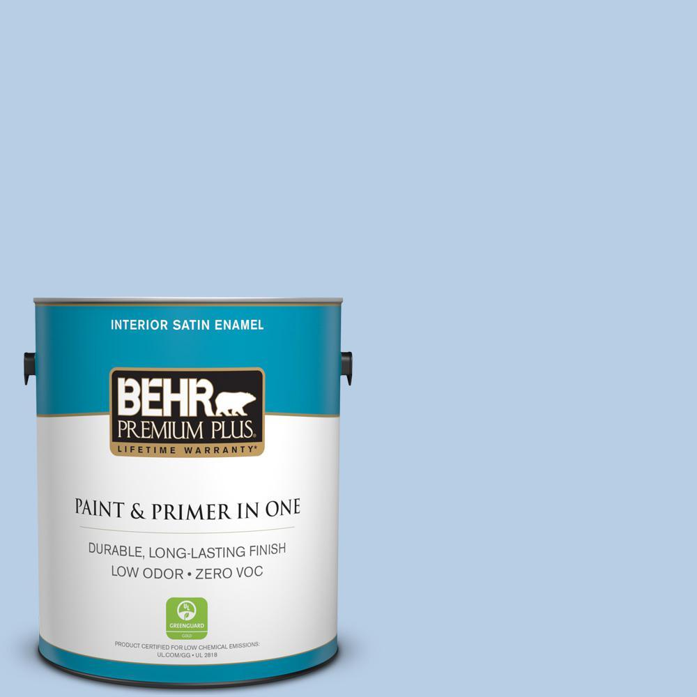 BEHR Premium Plus 1-gal. #570C-3 Tender Twilight Zero VOC Satin Enamel Interior Paint