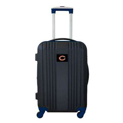 NFL Chicago Bears Black 21 in. Hardcase 2-Tone Luggage Carry-On Spinner Suitcase