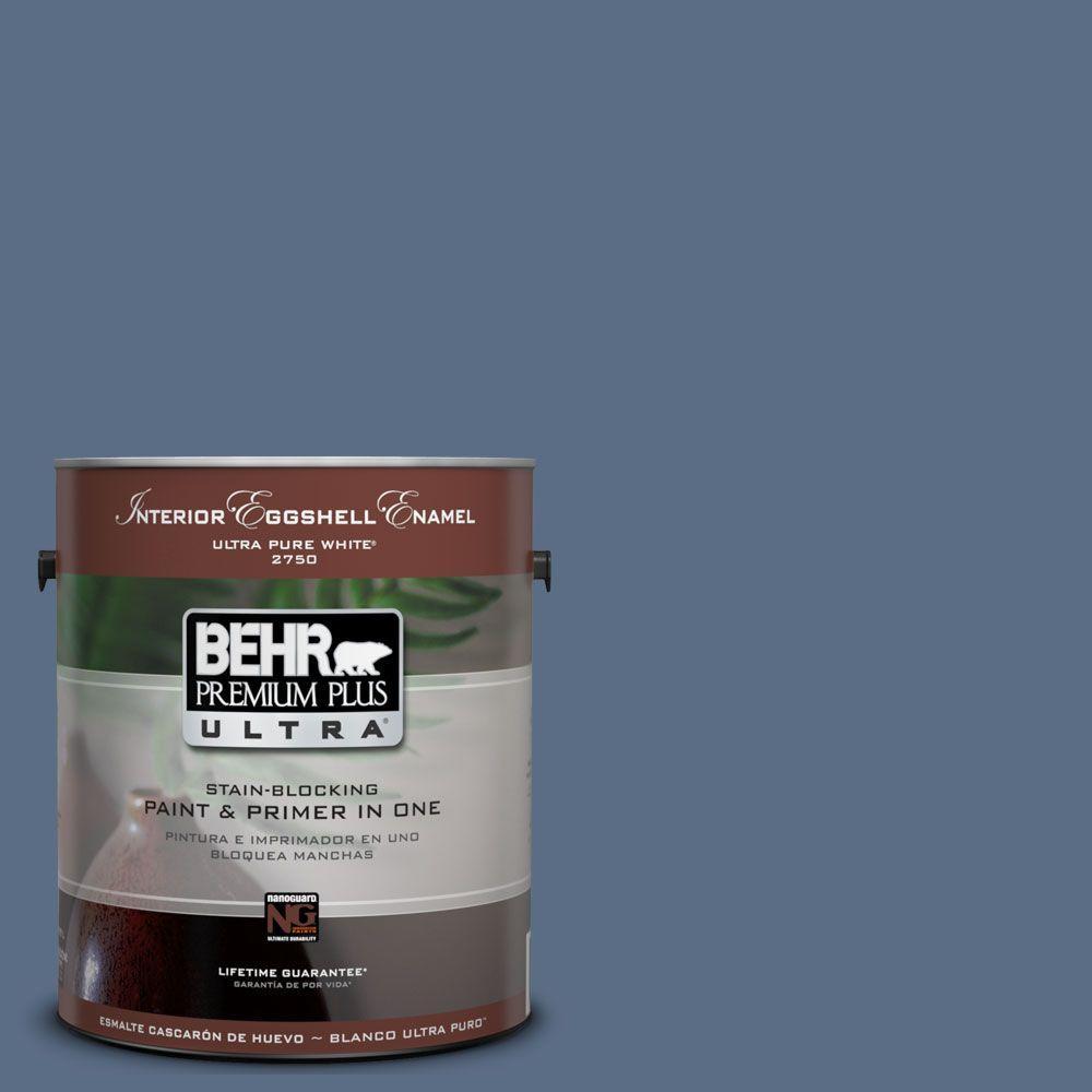 BEHR Premium Plus Ultra 1-Gal. #UL240-20 Sausalito Port Interior Eggshell Enamel Paint