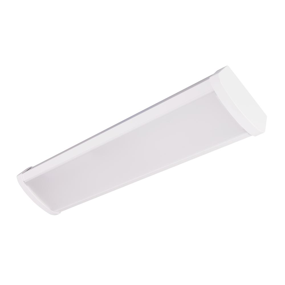 WPC Series 2 ft. LED Flush Mount Wraparound Light Fixture 3500K
