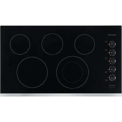 36 in. Radiant Electric Cooktop in Stainless Steel with 5 Elements Ge Cooktop Wiring Diagram Pp Djbb on