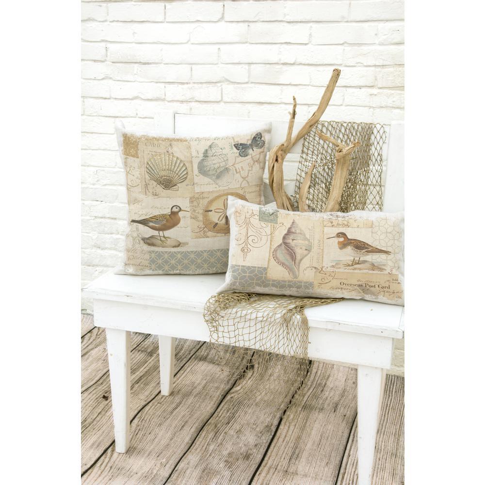 Shore Birds Oyster Birds Decorative Pillow