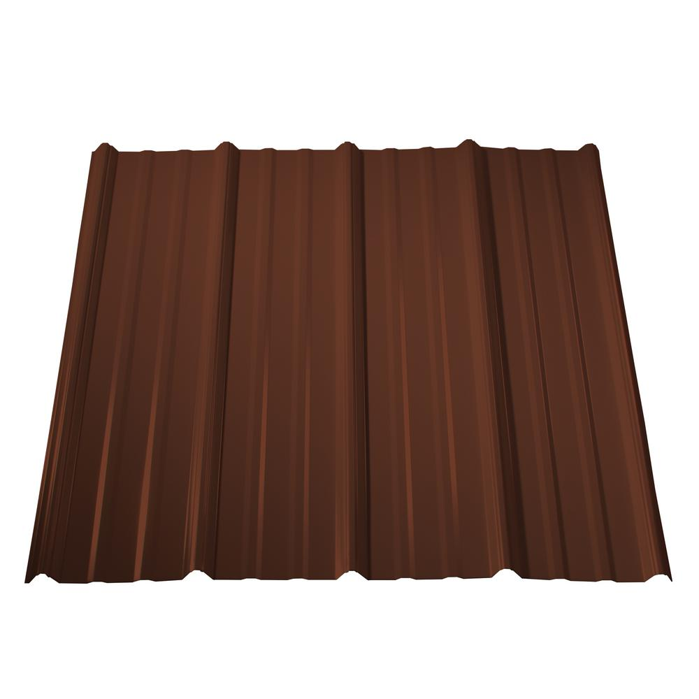 Classic Rib Steel Roof Panel In Brown
