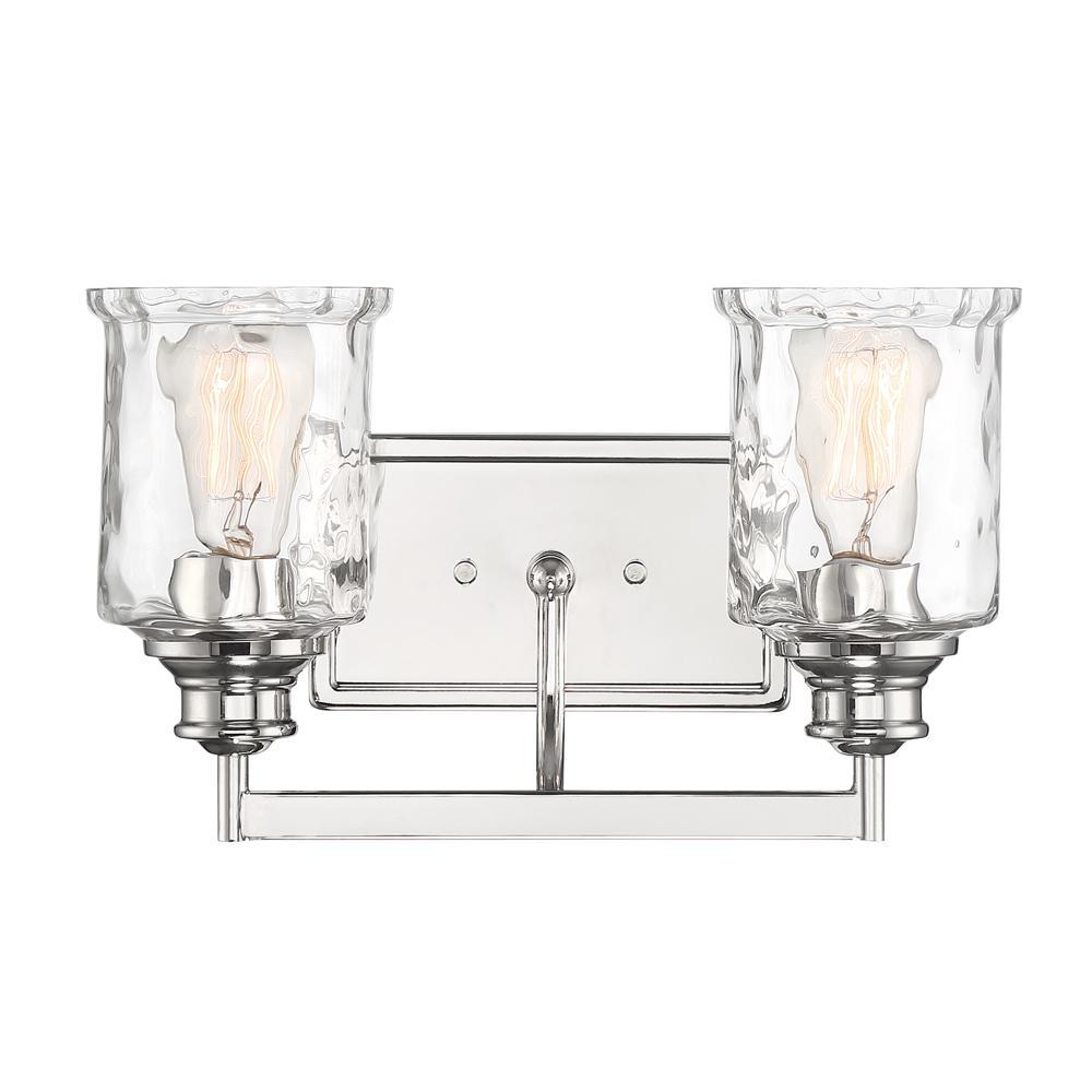 Drake 2-Light Polished Nickel Bath Bar Vanity Light
