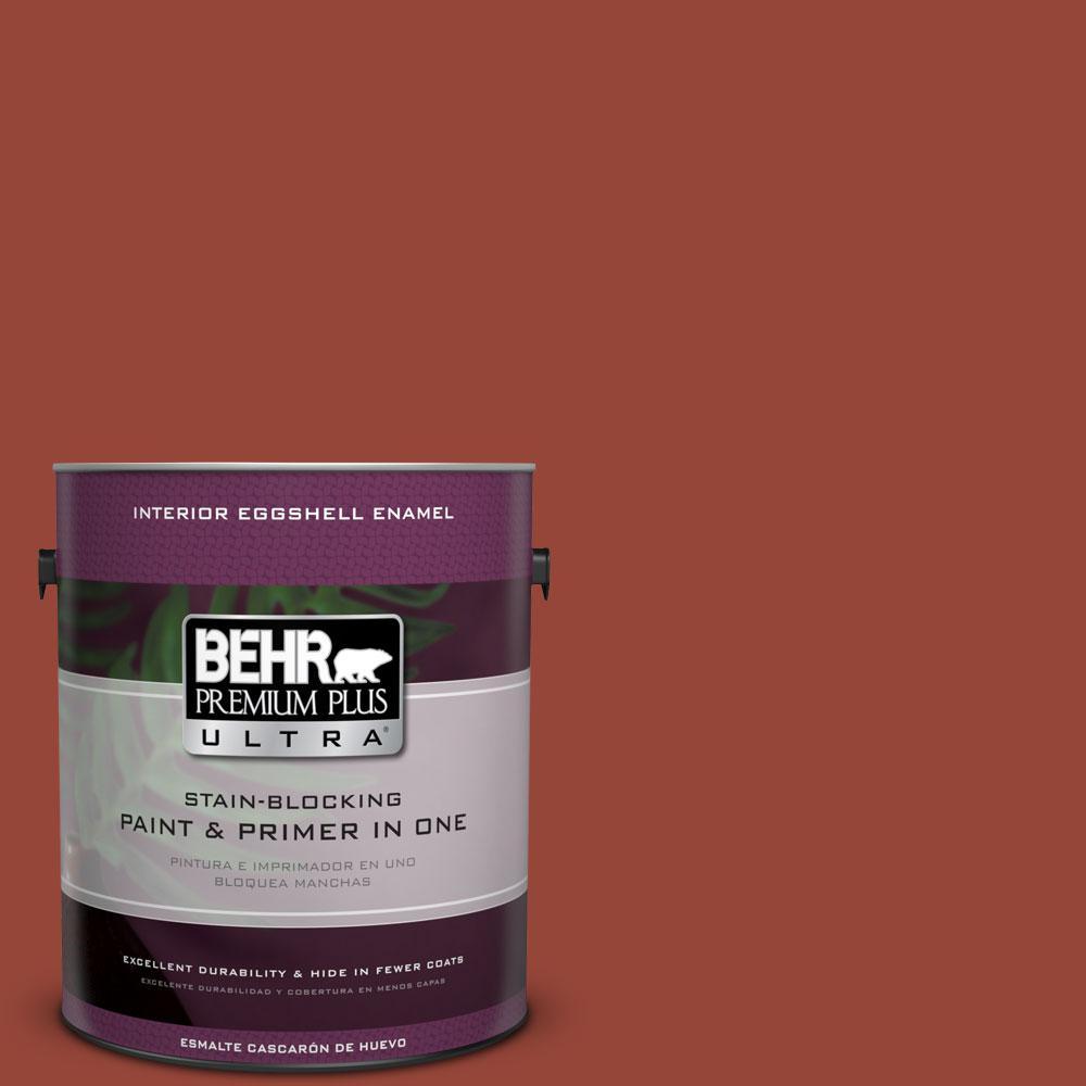 BEHR Premium Plus Ultra 1-gal. #S-H-200 New Brick Eggshell Enamel Interior Paint
