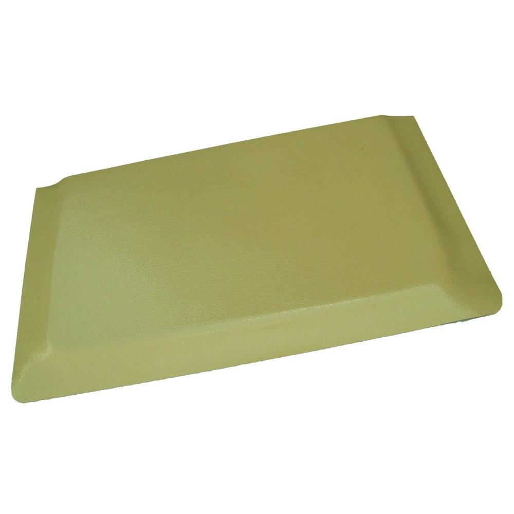 Rhino Anti-Fatigue Mats Hide Double Sponge Pebble Brushed Tan Surface 24  in  x 72 in  Vinyl Kitchen Mat