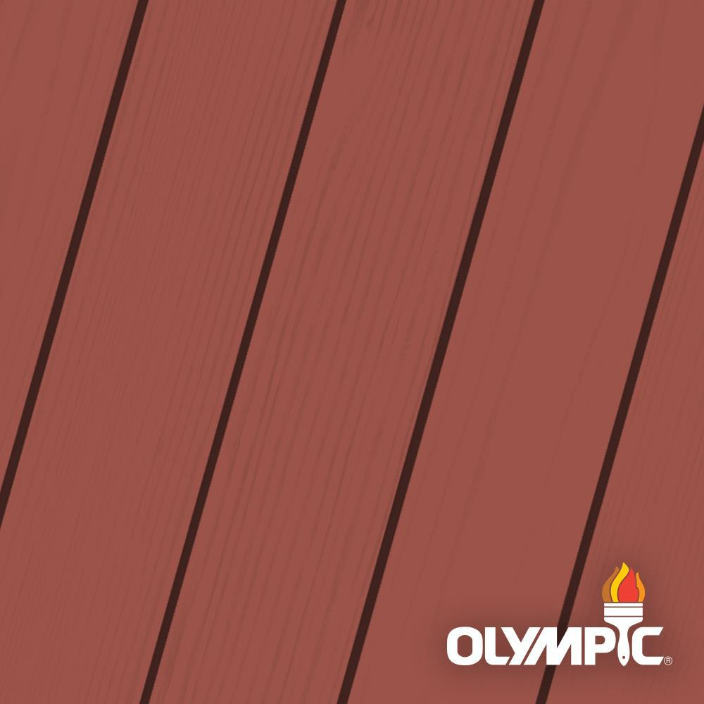 Olympic Maximum 5 gal. Navajo Red Solid Color Exterior Stain and Sealant in One