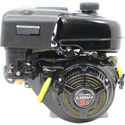 1 in. 9 HP 270cc OHV Recoil Start 2:1 Clutch Gear Reduction Horizontal Shaft Gas Engine